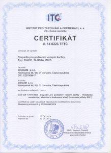 certifikát ITC stupadla